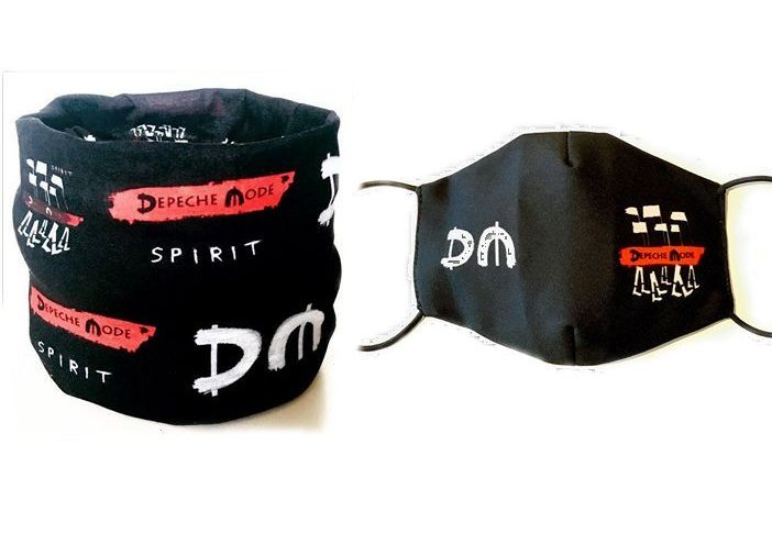 Depeche Mode Spirit combo of scarf and face mask