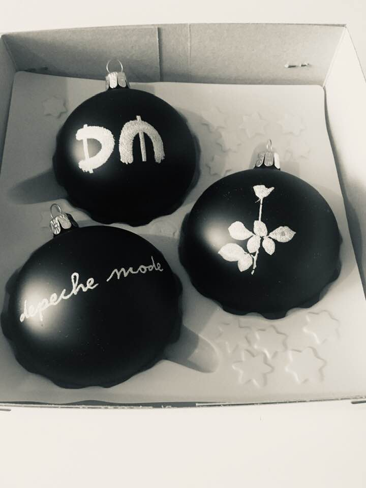 Depeche Mode Christmas Balls Sale (damaged logo)