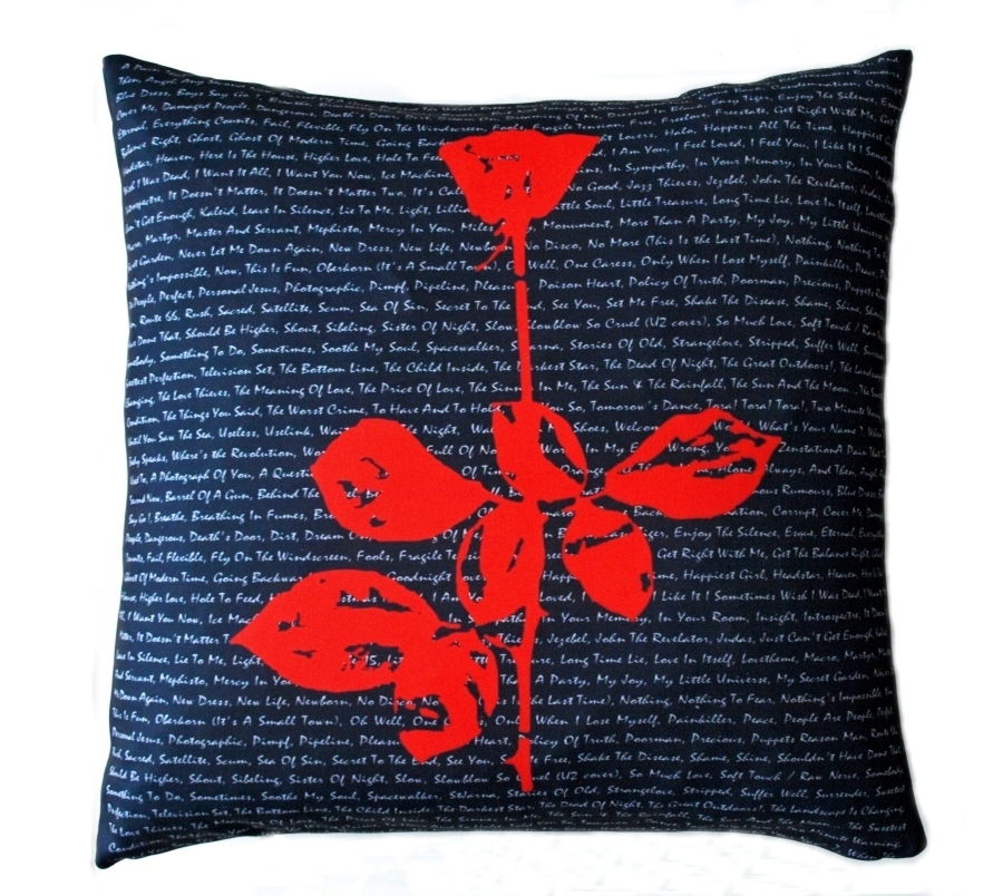 Depeche Mode Violator Rose Pillow